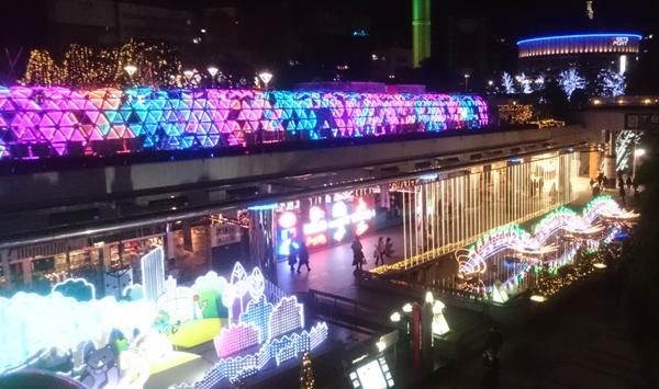 東京ドームシティのイルミネーション画像