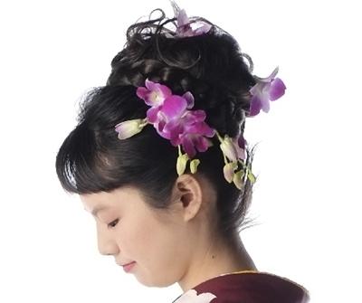 生花の髪飾り画像